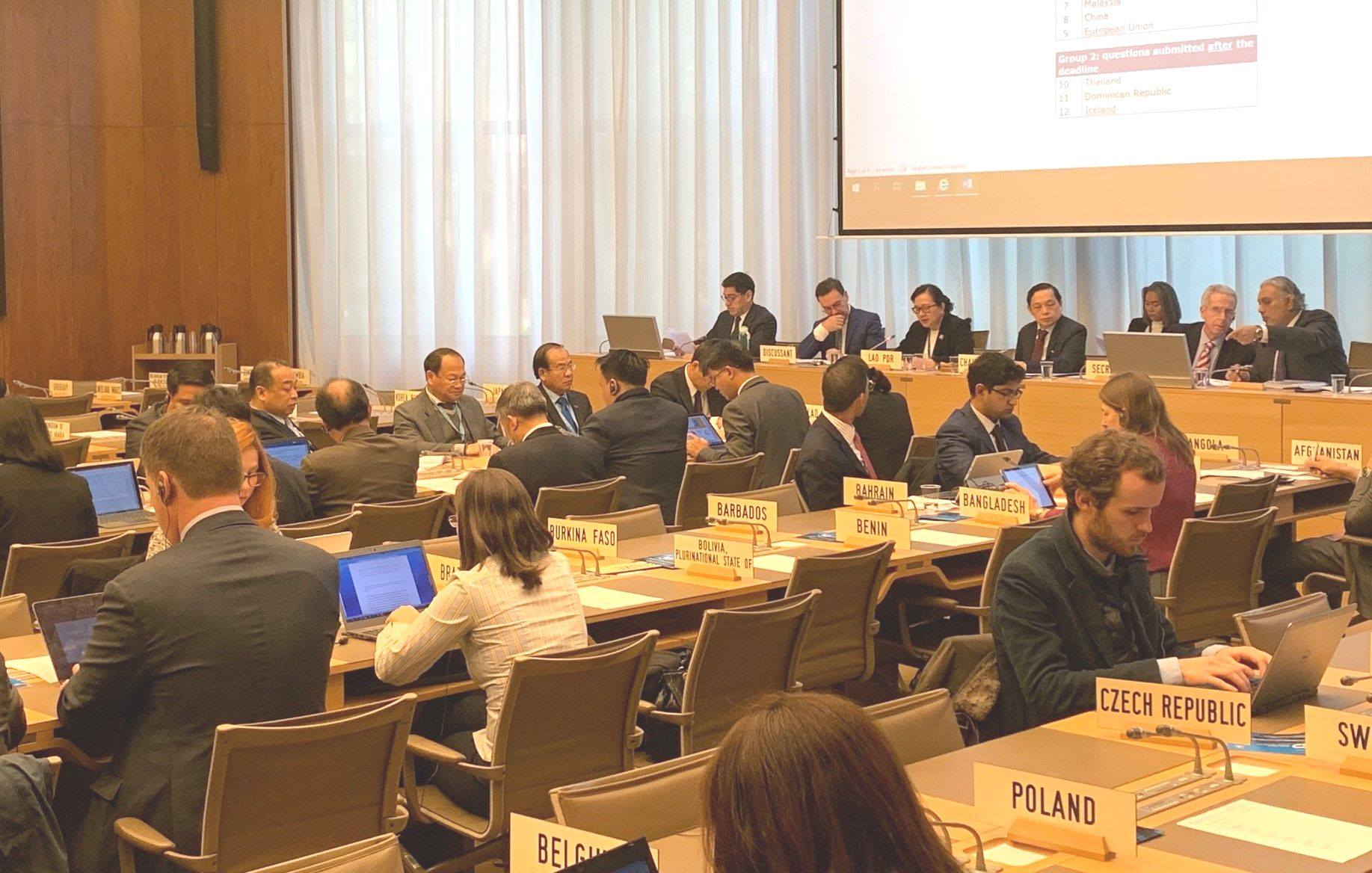 TPR of Lao PDR, WTO Room W, Session 1, 18.11.2019: Remarks of questions from the floor.